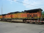 BNSF 4509 on the Hayden St. crossing