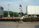 Eastbound intermodal/TOFC train crossing Hayden St.