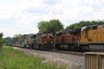 Westbound stacks meet eastbound racks
