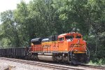 BNSF 9170 recedes to the south/east