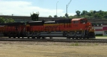 BNSF 9198 awaiting the all clear
