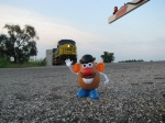 Mr. Potato Head is a railfan !