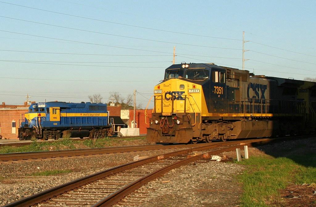 NB CSX train going by HOG power