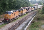 CSX NB freight with UP, ex CNW and ex BN power