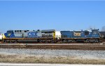 CSX 507 (AC44CW) & 1221 (MP15T) - odd combo switching cars