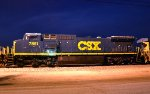 CSX 7851 Freshly Painted