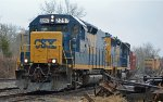 CSX 2297 & 6426 picking up cars