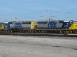 CSX 6154 & 4442 Switching @ Howell Yard