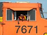 BNSF 7671 baacking into the Yard