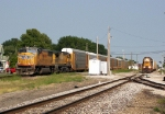Southbound UP Manifest Passing a Westbound CSX Local
