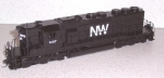 N&W SD-40 Progress. HO Scale