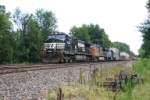 NS 9344 on westbound stack train