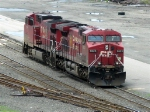 Canadian Pacific power lays over in Oak Island