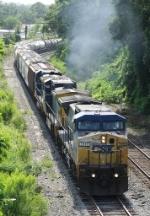 CSX 7838 on NB freight