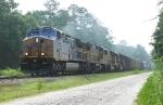 KCS 4602 leading sb freight