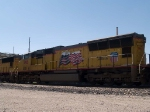 UP 5195 #2 power in an EB grain train at 11:35am