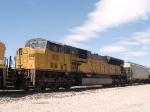UP 8151 #4 power in an EB grain train at 11:35am