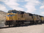 UP 4556 leads an EB doublestack IGSAT at 1:03pm
