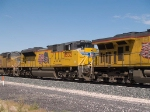 UP 8532  #2 power in an EB doublestack at 12:09pm