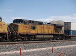 UP 9806 #3 power in a WB doublestack at 12:25pm