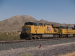 UP 5302 leads a WB doublestack at 1:39pm