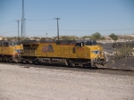 UP 7792 leads an EB doublestack at 11:40am