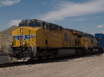 UP 7807 leads an EB doublestack ILBAVX-24 at 12:19pm