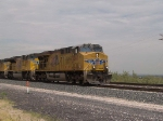 UP 5267 leads an EB doublestack at 11:41am