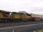 UP 8592 #2 power in a WB doublestack at 11:49am