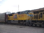 UP 8562 #2 power in a WB autorack/doublestack at 1:15pm