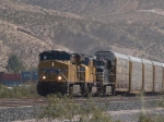 UP 5283 leads a WB autorack/doublestack at 12:42pm