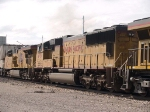 UP 4173 #2 power in a WB KATLB doublestack at 10:06am