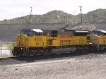 UP 8052 leads a WB doublestack at 10:40am