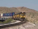 UP 8575 leads an EB doublestack at 11:44am