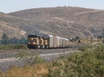 UP 5315 leads a WB autorack/doublestack at 12:13pm
