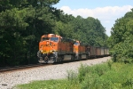 BNSF 5871 leads coal train NS 736 south