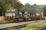 NS 9066 leading train 322 at Lindale, GA.