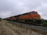 BNSF 7649 in Misty weather