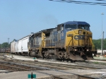 Q326-03 departs Wyoming Yard with 8 cars