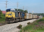 CSX 203 & 4747 power Q334-16 eastward as it starts its journey