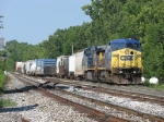 CSX 7873 & 494 bring Q326-17 into Wyoming Yard