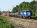 Conrail Blue pair 3067 & 3062 start south with B48