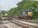 With a large, 52 car train in tow, D700-20 returns to the yard