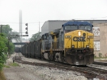 CSX 119 & 318 pull east over Godfrey with E848-24