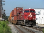 CP 8572 leads X500-29 onto Track 1