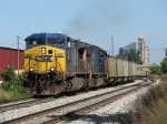CSX 342 & 4760 throttle up as they head east with E446's coal empties