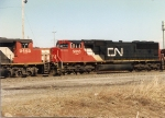 Part of the CN power on SECN leaving the yard