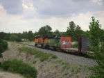 BNSF 7778 into the storm