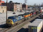 CSX 9018 leads colorful units south
