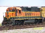Closeup of BNSF 2329
